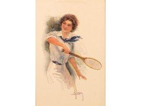 Pohlednice tenistka