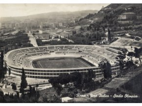 Pohlednice stadión, Roma, Stadio Olympico, 1960 (1)