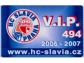 Karta VIP HC Slavia Praha, sezona 20062007 (1)