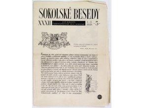Sokolské besedy, list dorostu, 19385
