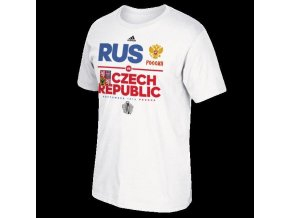 Team Czech Republic vs Russia 2016 World Cup of Hockey Face-Off T-Shirt - Mens