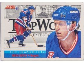 Hokejová kartička, Brian Leetch, New York Rangers, 1991 (1)