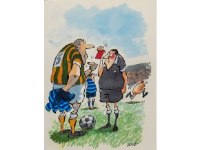 Pohlednice Fotbal, humor, Its funny old game by HOLTEE (1)