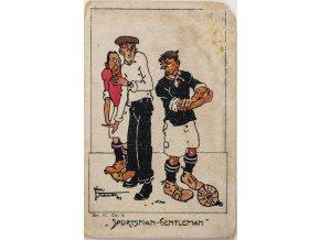 Umělecká dopisnice Sportsman gentleman, fotbal (2)