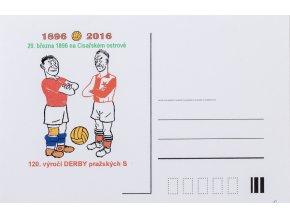 Korespondenční lístek 120.Derby, Sparta Slavia, 1896 2016