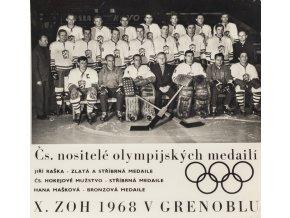 Foto hokej Československo, X. ZOH 1968, Grenoble (1)