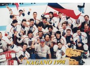 Foto hokej Česká republika, ZOH 1998, Nagano
