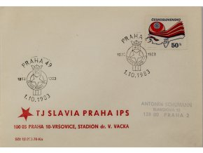 FDC , 90 let SK SLAVIA PRAHA, 1983