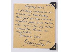 CELISTVOST vložen dopis Františka Pláničky, 1973 (1)