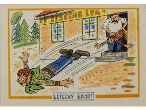 Pohlednice humor, Letecký sport, Štembera (1)
