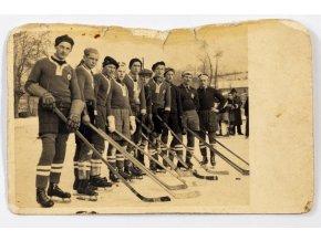 Dobová fotografie hokejového týmu Slavia Praha (1)