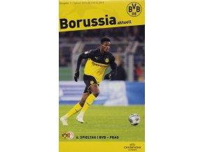 Vstupenka UEFA CHL, Borussia Dortmund v. SK Slavia Praha, plakát, 201920 (1)