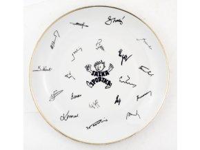 Porcelánový talíř SAZKA SPORTKA, podpisy sportovců (1)