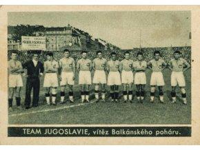Kartička , Album sportovců, Team Jugoslavie, č. 46