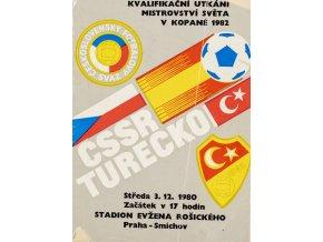 Program ČSSR vs. Turecko