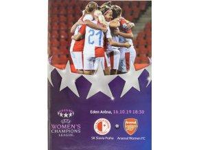 Program UEFA WOMENS CHAMPIONS LEAGUE SLAVIA vs. ARSENAL FC, 2019