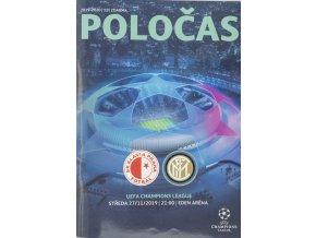 Program Champions LEAGUE SLAVIA vs. Inter Milan, 2019 1