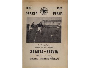 Program fotbal, Sparta v. Slavia, 91969