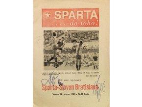 Program Slovan Bratislava vs. SPARTA Praha