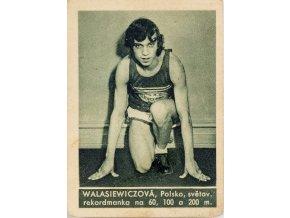 Kartička , Album sportovců, Walesiewiczová, č. 158