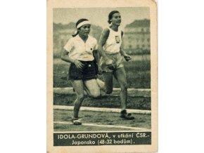 Kartička , Album sportovců, Idola Grundová, č. 162