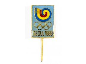 Odznak Olympic, Seoul, modrý, 1988