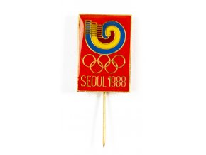 Odznak Olympic, Seoul, červený, 1988