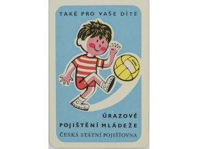 Kalendář fotbal, Česká státní pojišťovna, 1970 (1)