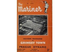 Program fotbal, Slavia Grimbsby Town, 1958 (1) 1