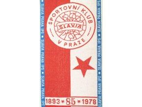 Ručník Slavia Praha IPS, 1893 1975, 85 let