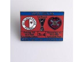 Odznak UEFA 92 93 FC Heart of Midlothian vs. Slavia red