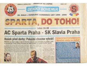 Deníky Bohemia, AC Sparta Praha SK Slavia Praha, 2000 (2)