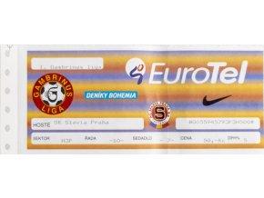 Vstupenka fotbal, AC Sparta Praha v. SK Slavia Praha, 2000