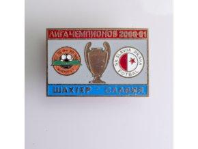 Odznak UEFA Liga mistru Sachter vs Slavia 2000 2001
