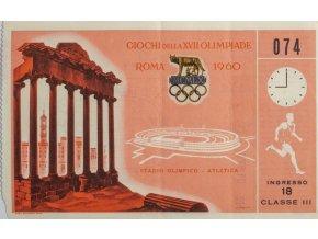 Vstupenka Olympic, Roma, atletika, 1960