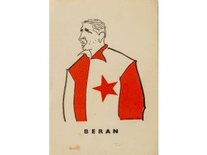 Karta 15 fotbalistů SLAVIE v karikaturách Haďáka, Beran