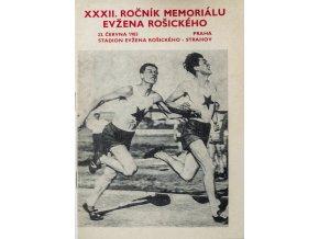 Program memoriál Evžena Rošického 1983