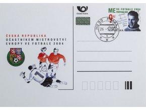 Korespondenční lístek účastník ME fotbal, 2004. ČR, ražená
