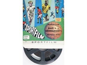 8 mm Sportfilm, WC Cup 1970, fotbal, Brazil v. Czechoslovakia (2)