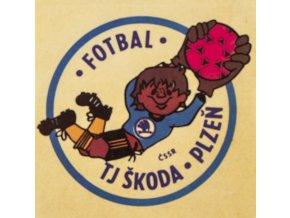 Samolepka Fotbal, TJ Škoda Plzeň, ČSSR
