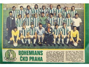 Plakát Bohemians ČKD Praha, 1975