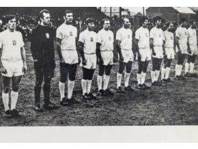 Fotopohlednice Tým ČSSR, fotbal, Dublin, 1969 (1)