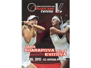 Official Program Advantade tennis, Kvitová v. Sharapova,, Praha 2012