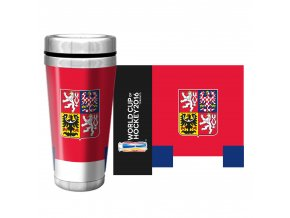 Team Czech Republic 2016 World Cup of Hockey Full Wrap Travel Mug