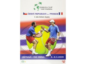 Official Program Davis Cup, CZ v. France, 2009
