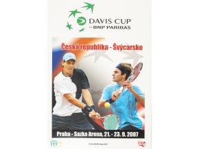 Official Program Davis Cup, CZ v. Švýcarsko, 2007