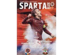 Program fotbal, UEFA, Sparta v. Southhampton FC, 2016