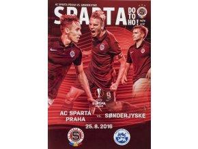 Program fotbal, UEFA, Sparta v. Sonderjyske, 2016