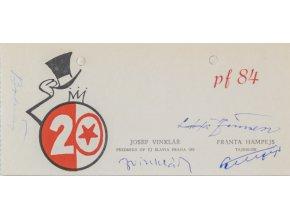 PF 84 Odbor přátel TJ Slavia Praha IPS 20 výročí III