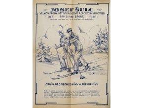 Ceník dětských vozíků a sportovních potřeb pro zimní sport, J.Šulc, 1933 (1)